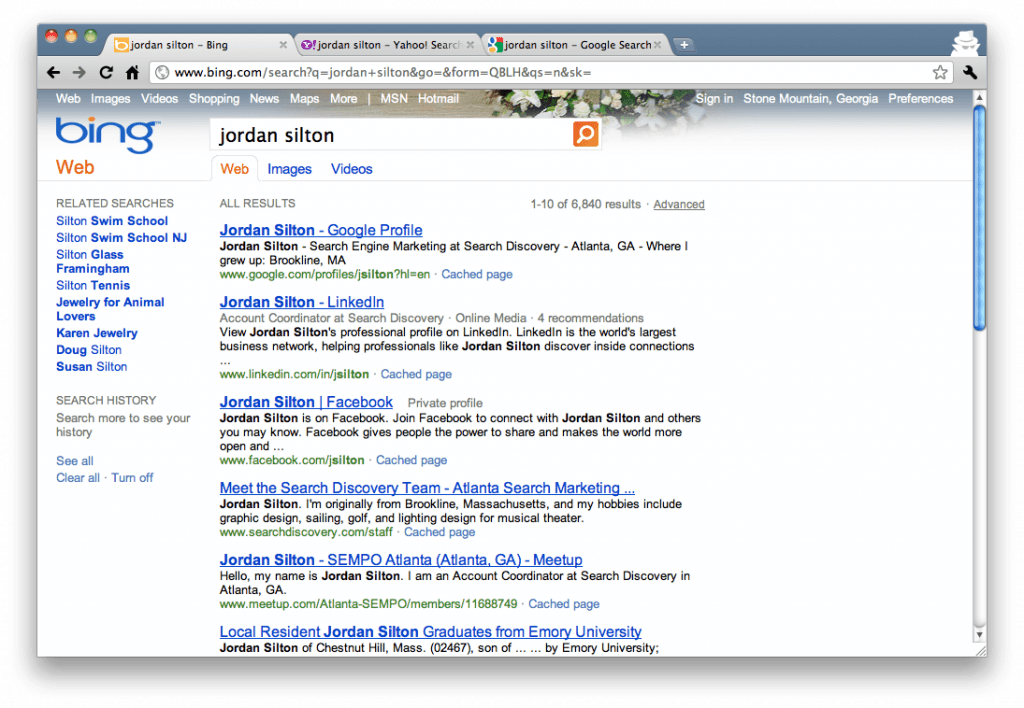 "Bing Search Results for ""Jordan Silton"""