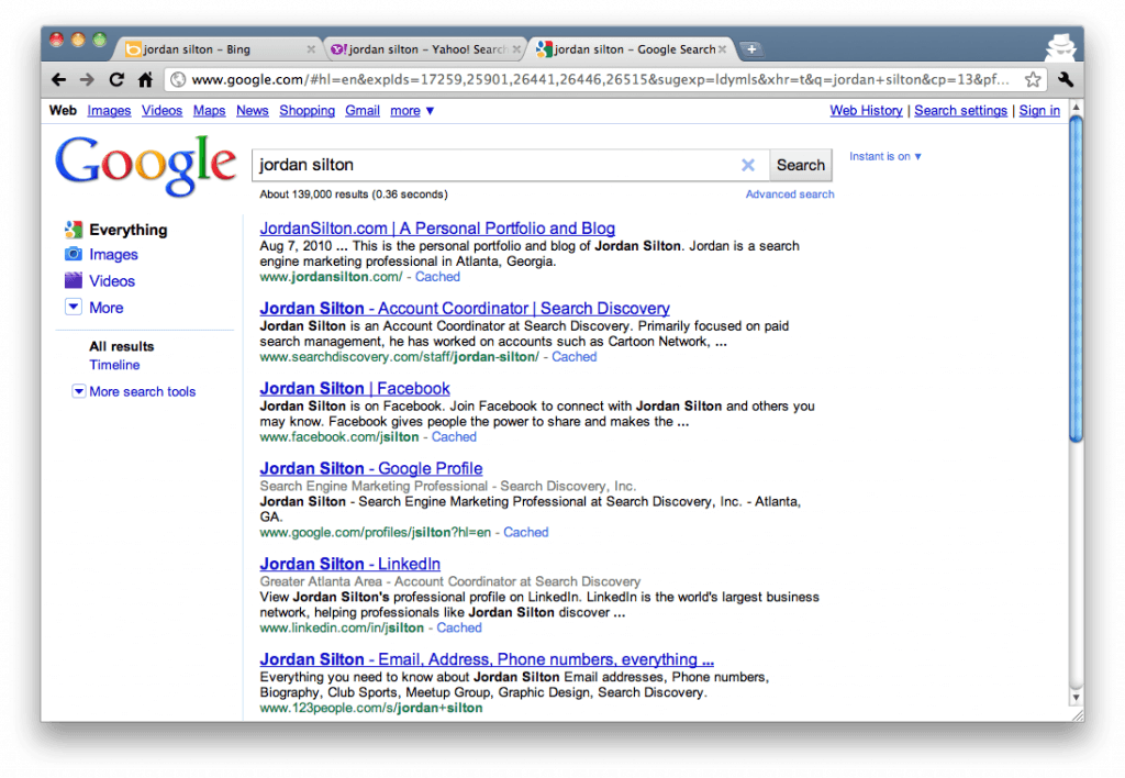 "Google Search Results for ""Jordan Silton"""